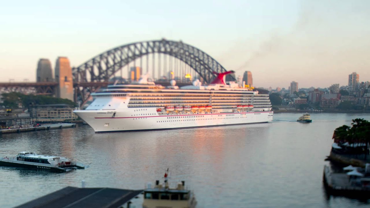 Sydney Cruise Ship Arrival YouTube - Cruise ship movements sydney harbour