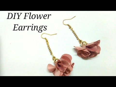 DIY Flower Earrings 2019 | Handmade easy Kids Crafts | Art, Craft and Health thumbnail