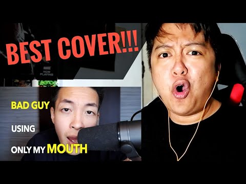 REACTION | I did 'Bad Guy' only with my Mouth 👅