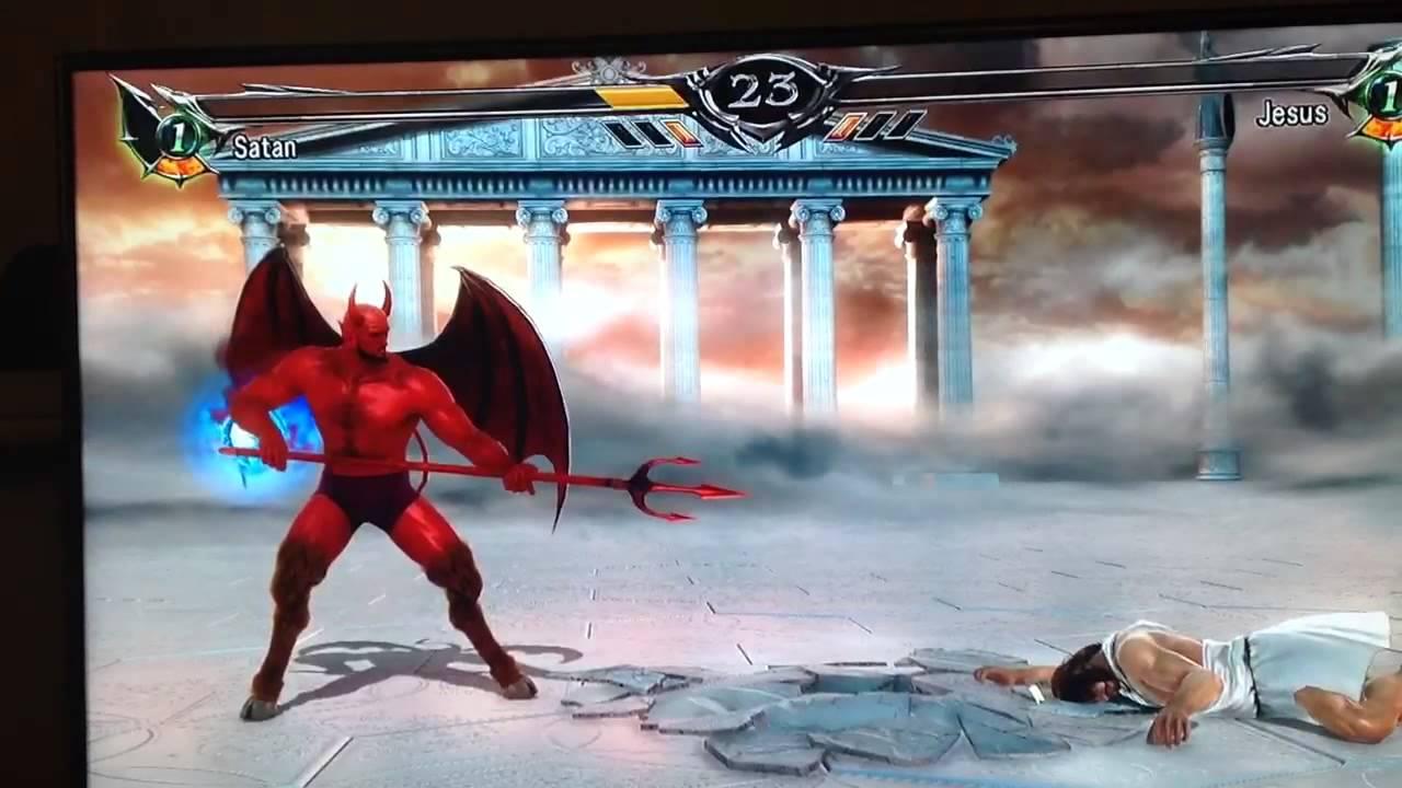 Soul Calibur CPU Battle Satan vs Jesus YouTube
