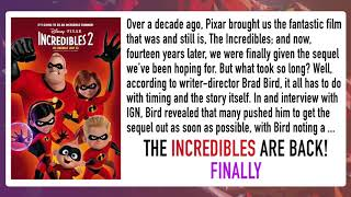 Incredibles are Back! 15 Years Later / Celebrity Life News