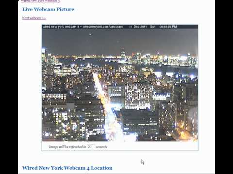 UFOs on NYC wirednewyork webcam 4