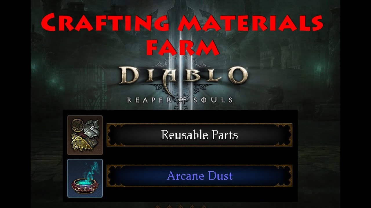 Diablo 3 crafting materials farm over 5000 hour youtube for Diablo 3 crafting items