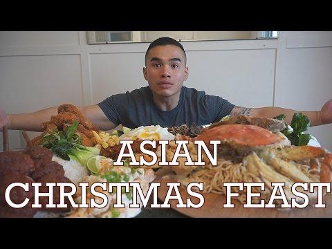 ASIAN CHRISTMAS FEAST | MUKBANG | QT