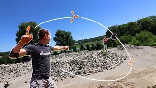 INSANE BOOMERANG TRICK SHOTS! | World Champion Boomerang Thrower