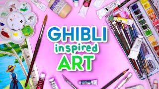 Studio Ghibli Inspired Art!