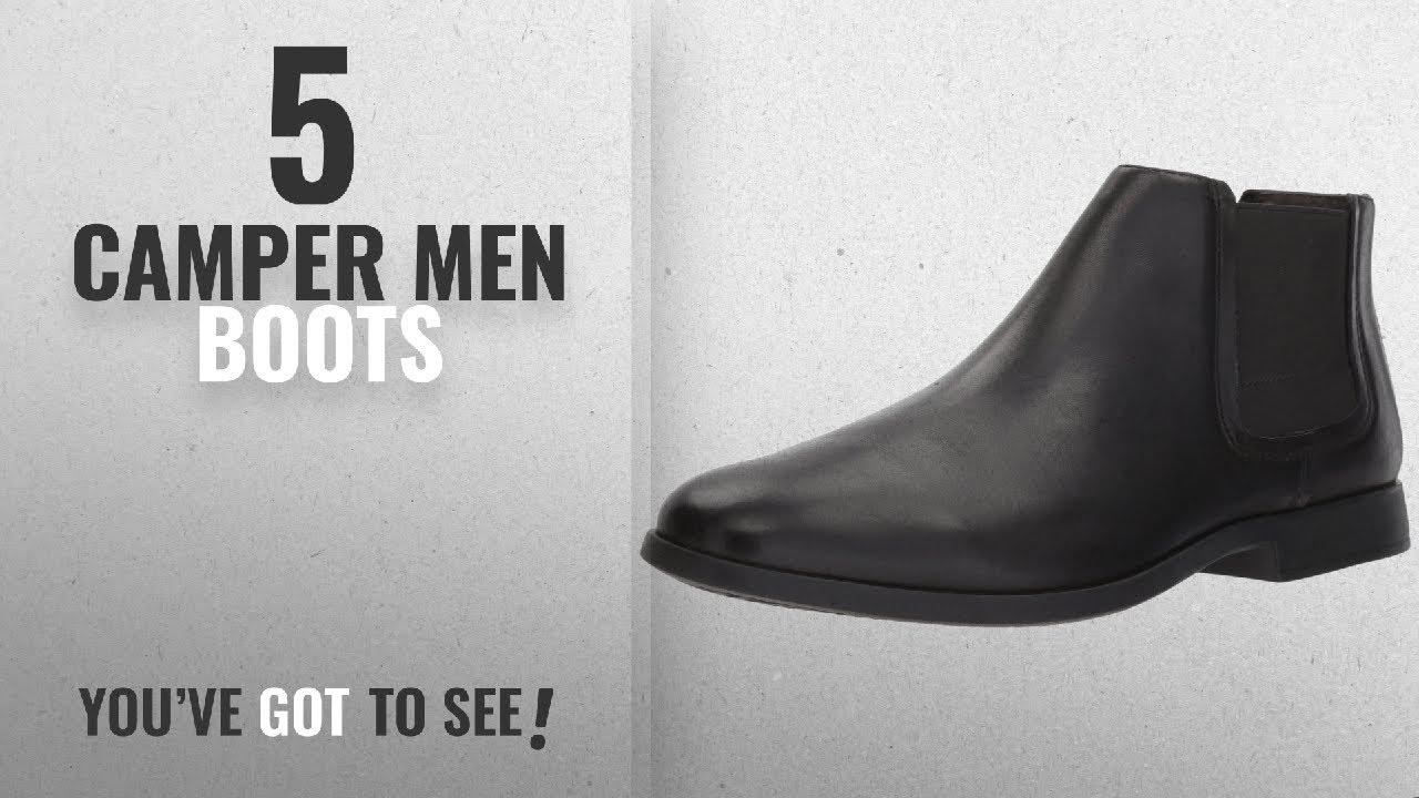 Top 10 Camper Men Boots [ Winter 2018 ]: Camper Men\'s Truman K300188 Ankle Boot, Black, 46 M EU (13