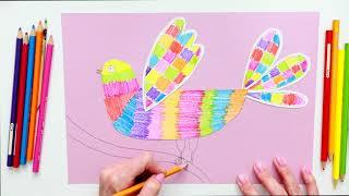 Как нарисовать птицу карандашами поэтапно Уроки рисования Артлайнер