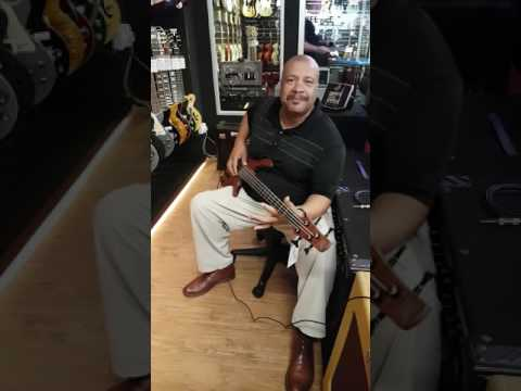 Jazz Funk Soul Bassist Russ Landery at Singapore's Swee Lee's Music Store