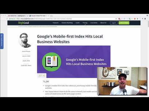 It's Here! The Google Mobile First Index for Local Business SEO