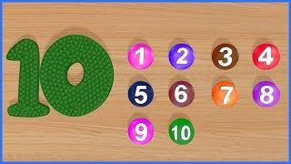 123 Numbers 1234 Number Names 1 To 10 Numbers Song 12345 Number Learning Kids Video