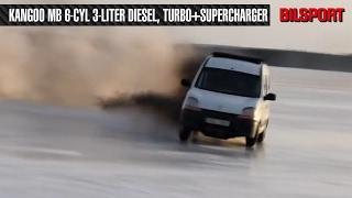 ENGLISH: Renault Kangoo w/400-500 HP MB diesel turbo+supercharger
