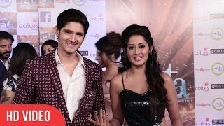 Rohan Mehra with GF Kanchi Singh at 17th Indian Television Academy Award 2017 | ITA Award | ColorsTV