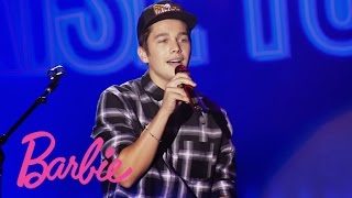 Austin Mahone at Barbie Rock 'n Royals Concert Experience | Barbie