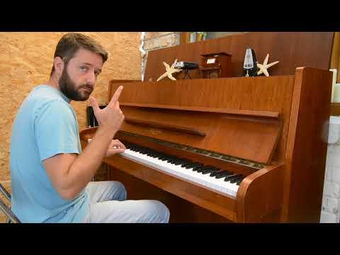 Head, shoulders, knees and toes - karaoke piano version