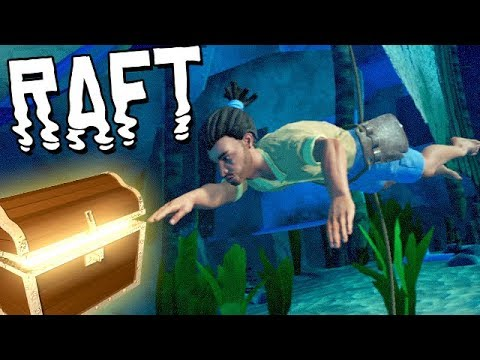RAFT Vollversion Gameplay German - Nach Schätzen tauchen
