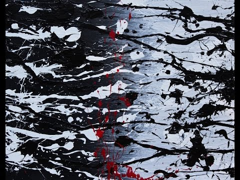 "Abstract Painting Art Demo - ""Dark Daze"" Embrace The Matrix @embracematrix"
