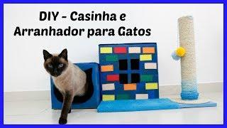 DIY – Casinha e Arranhador para Gatos – Do Lixo ao Luxo