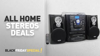 Walmart Top Black Friday All Home Stereos Deals: Jensen JMC-1250 Bluetooth 3-Speed Stereo Turntable