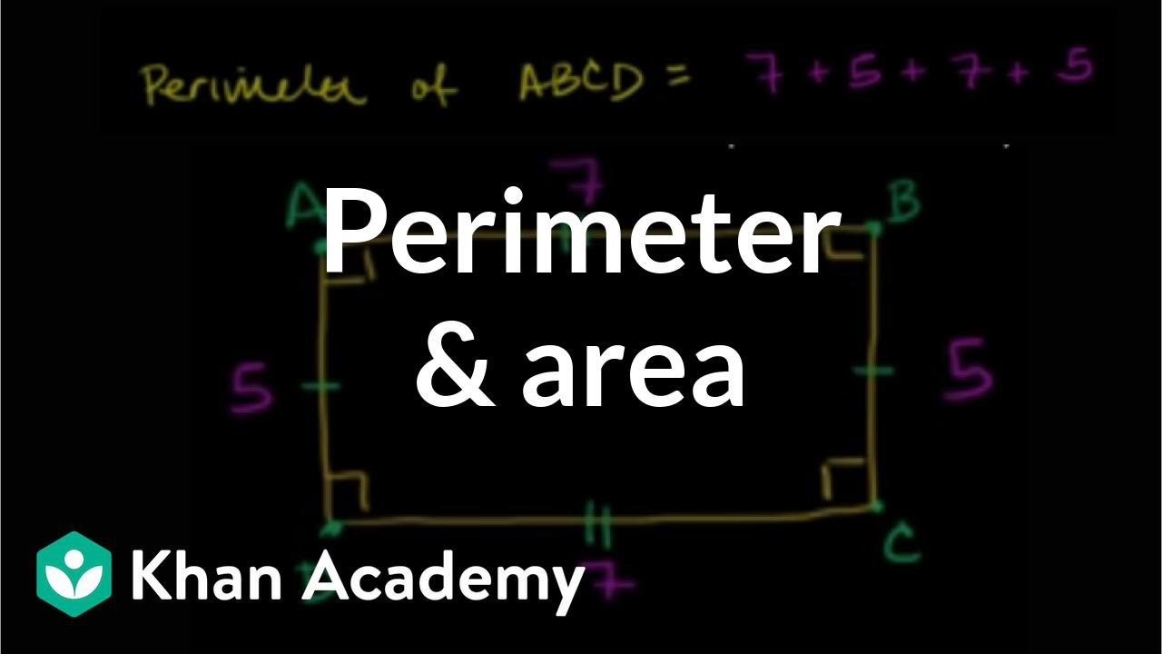 Perimeter \u0026 area (video)   Perimeter   Khan Academy [ 720 x 1280 Pixel ]