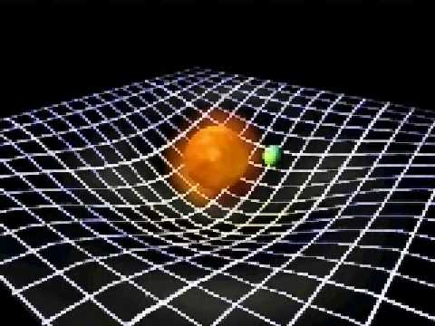 The curvature of space time youtube for Space and time fabric