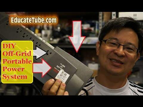 DIY Portable Off Grid Electrical System using APC UPS backup electrical on