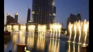Dubai Fountain - die größte Fontäne der Welt in der Wüste