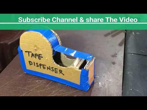 How to make a TAPE Cutter Dispenser Machine at home | DIY