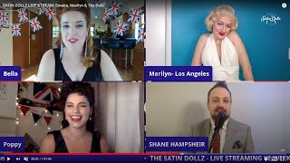 SATIN DOLLZ LIVE STREAM: Sinatra, Marilyn & The Dollz