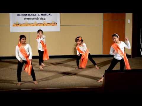 17 02 05 Saanvi Anika Sanika Anisha Jai Jai Maharashtra group dance