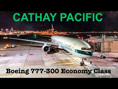 Cathay Pacific Economy Class | Boeing 777-300 | Singapore - Hong Kong | CX714 High density aircraft