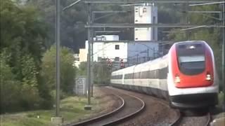 Hier fehlt das dritte Gleis der Nationalbahn: SBB ICN bei Kemptthal