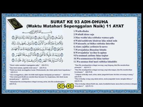 Surat 93 Adh Dhuha Waktu Matahari Sepeninggalan Naik
