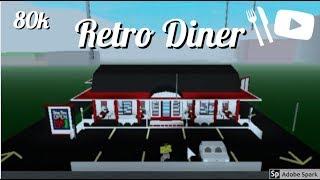 Bloxburg: Retro Diner 80k Tour (fr) Roblox Construire