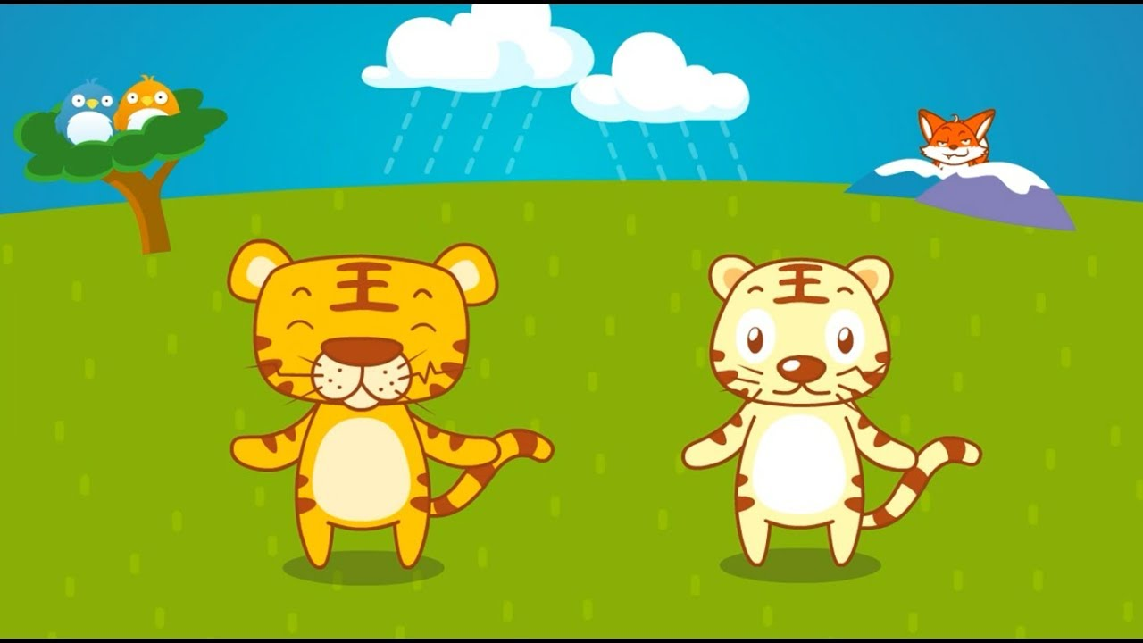 兩隻老虎 | 經典兒歌 | 最好的兒歌 | 童謠 | 卡通動畫 | 貝瓦兒歌 - YouTube