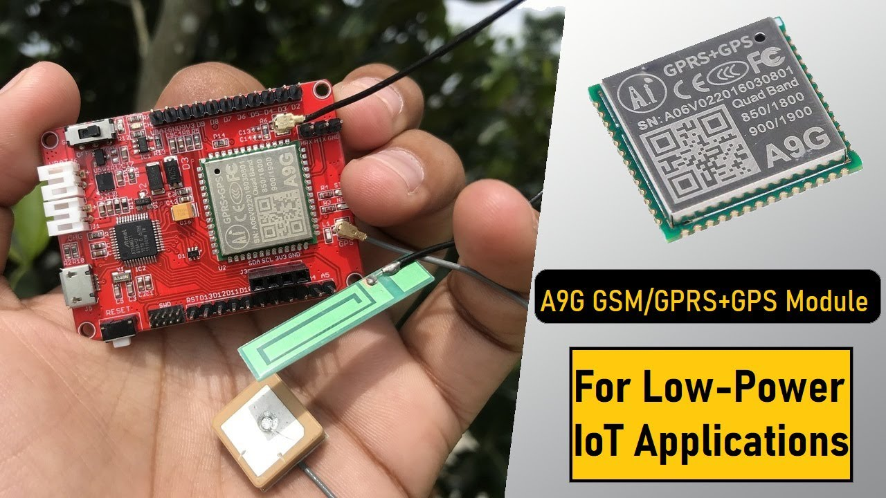 Download A9G Low Power GPRS/GSM + GPS Module for Cellular IoT Applications   SMS, GPS Tracker & Internet