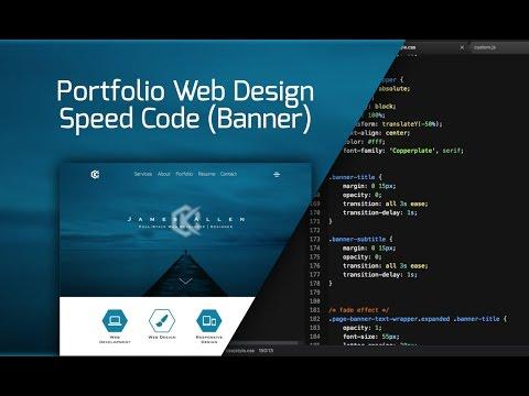 Web Design Speed Code - Portfolio Site Redesign (Banner)