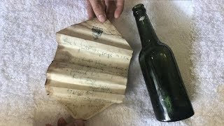 Message found in bottle from 1924