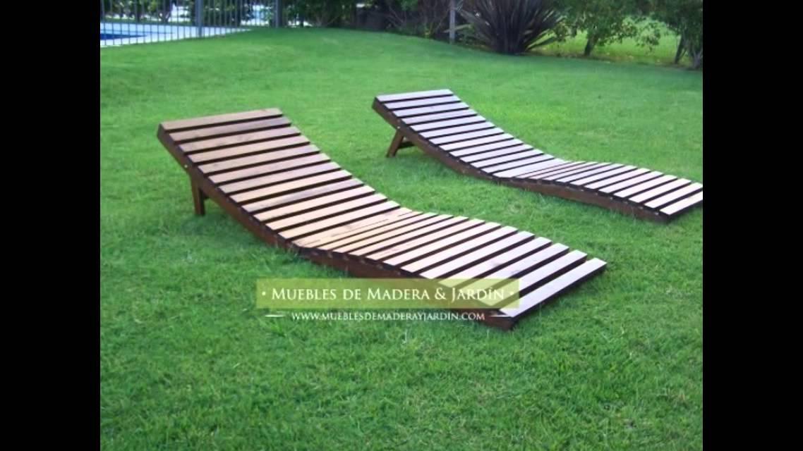 reposeras ergonomicas muebles de madera y jard n com