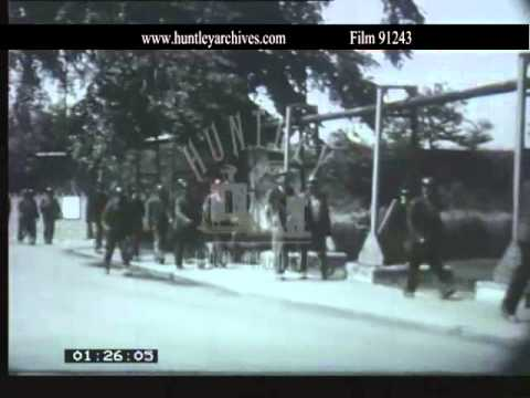Rossington mining village in West Yorkshire, 1960.  Archive Film 91243