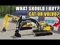 NEW CAT EXCAVATOR OR NEW VOLVO?! DEMO DAY | FARMING SIMULATOR 2017