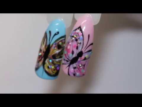 Butterfly Nails Art Fluturi Decorati Si Pictati Pe Unghii