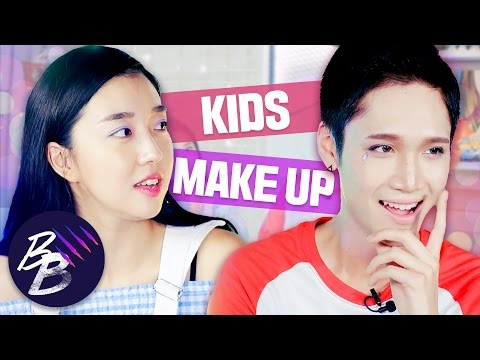 E1💋 KOREAN KIDS MAKEUP Challenge ft. Sunnydahye ll Beauty Beasts