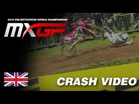 Tim Gajser Crash - MXGP of Great Britain 2019 #Motocross