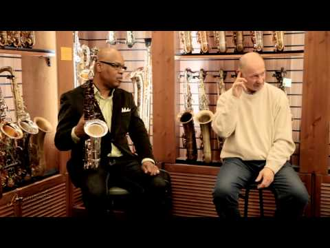 Greg Osby clinic in Moscow, Russia, sax boutique