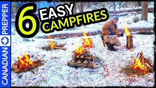 6 Easy Campfires Eveŗyone Should Know for Survival and Recreation