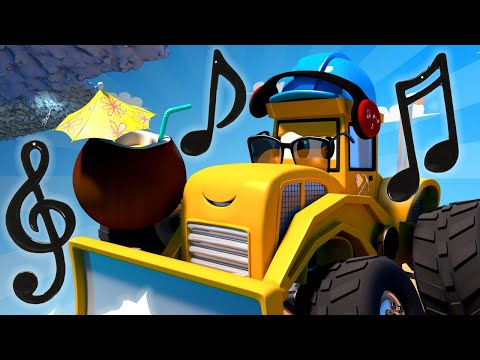 Monster Town - Mike the Bulldozer and the Hurricane   Monster Trucks Cartoon for Children