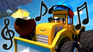 Monster Town - Mike the Bulldozer and the Hurricane | Monster Trucks Cartoon for Children