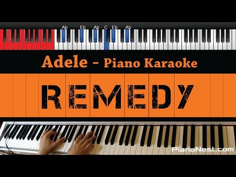 Adele - Remedy - HIGHER Key (Piano Karaoke / Sing Along)
