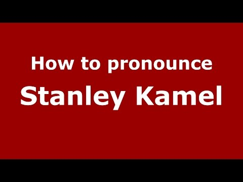 How to pronounce Stanley Kamel American EnglishUS  PronounceNames.com